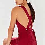 UO Lynn Linen Apron Cross-Back Dress