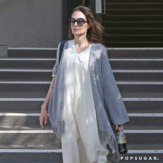 Angelina Jolie's White Summer Dress