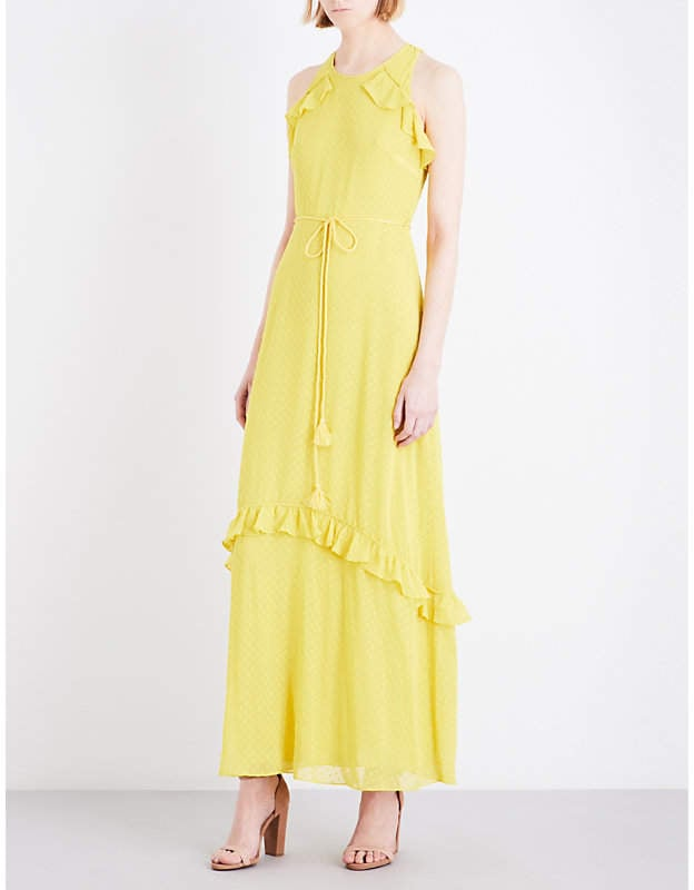 Whistles Cold Shoulder Chiffon Maxi Dress Wedding Guest Dresses