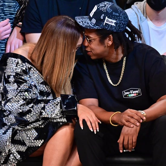 Beyoncé and JAY-Z Cuddle Up at Brooklyn Nets Game | Photos