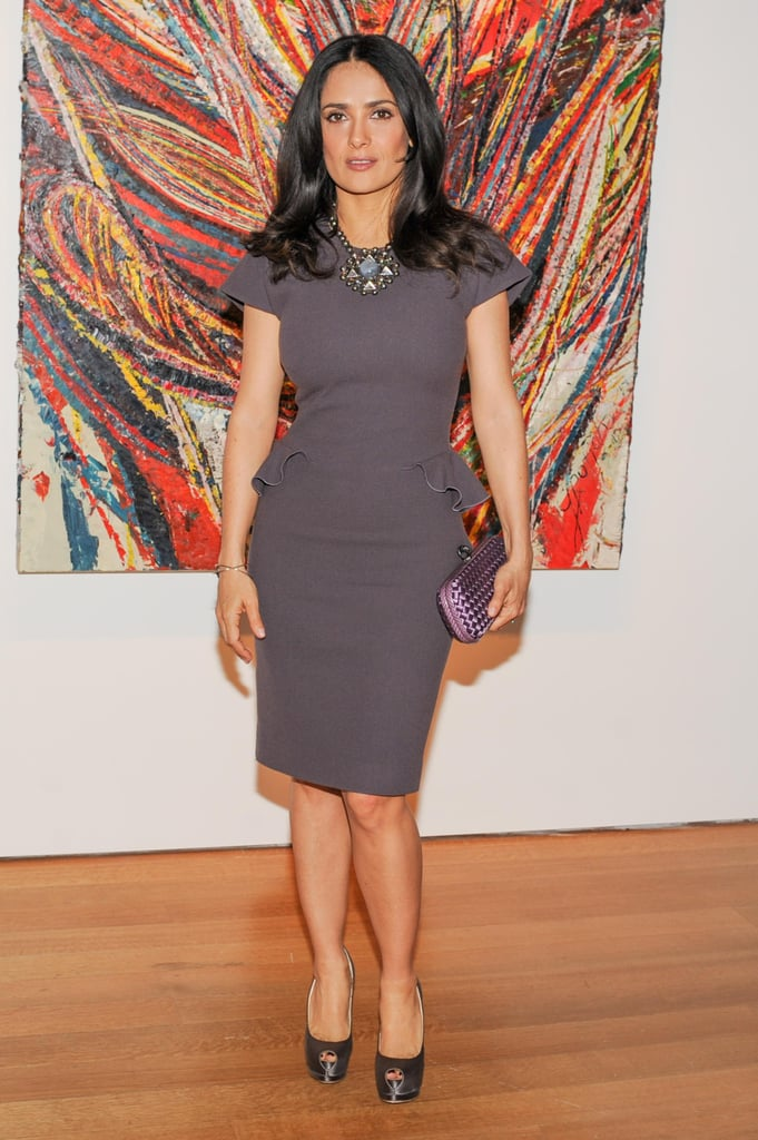 Salma Hayek at a private dinner at Christie's in New York.  Source: Neil Rasmus/BFAnyc.com