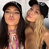Kendall Jenner and Gigi Hadid spent time together in Monaco, posing for a cute selfie.