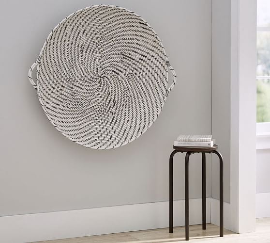 Hapao Black and White Basket Wall Art