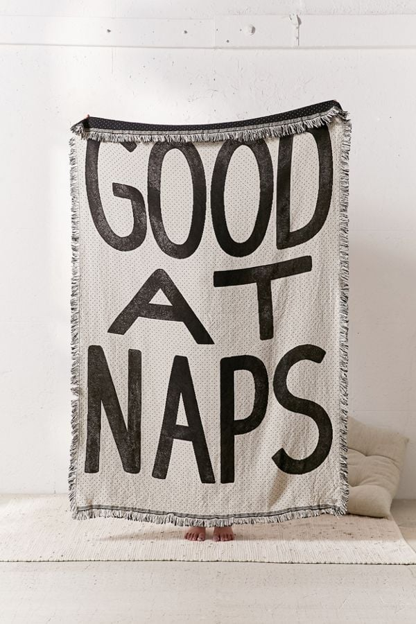 Good at Naps Knit Throw Blanket
