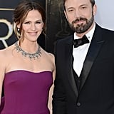 Jennifer Garner and Ben Affleck on the red carpet at the Oscars 2013.