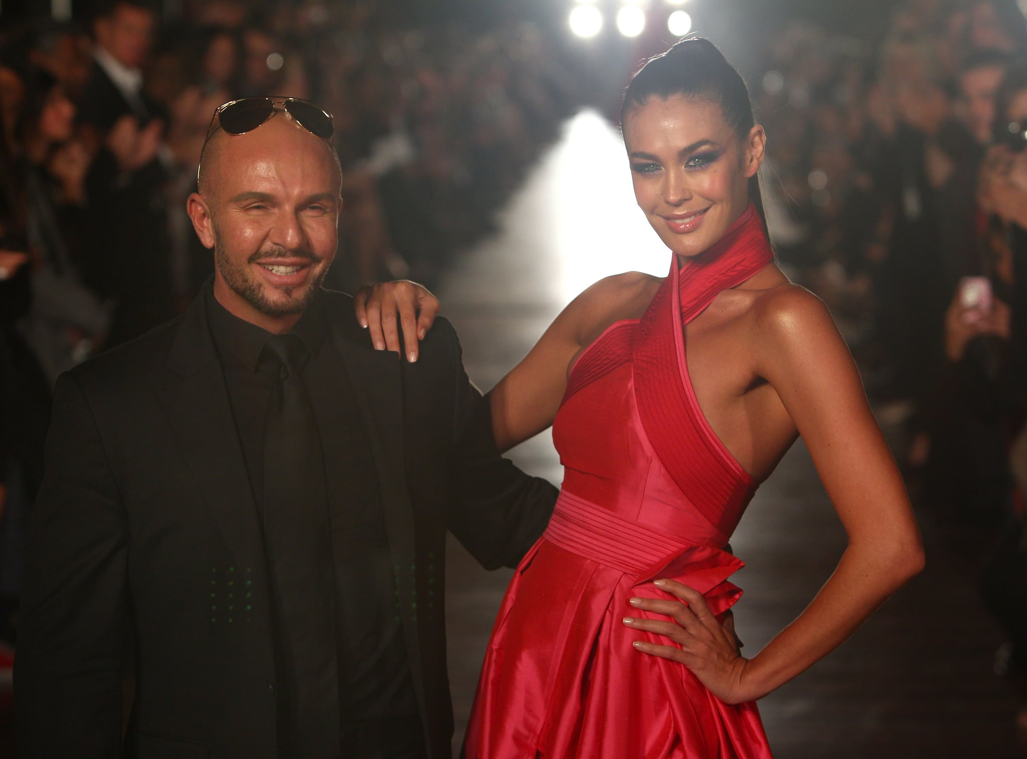 Smiles all round from Alex Perry and Megan Gale.