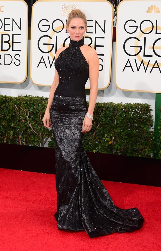 Uma Thurman at the Golden Globes 2014