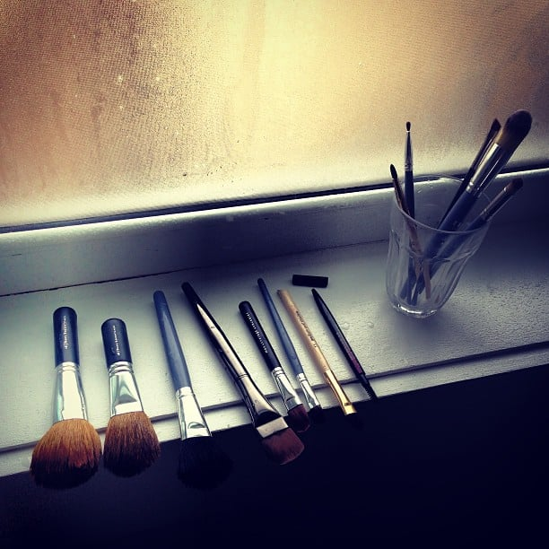 Rainy weekend up ahead? Make the most of your time indoors and clean your makeup brushes! Alison's religious about hers, and their condition is still tip-top.