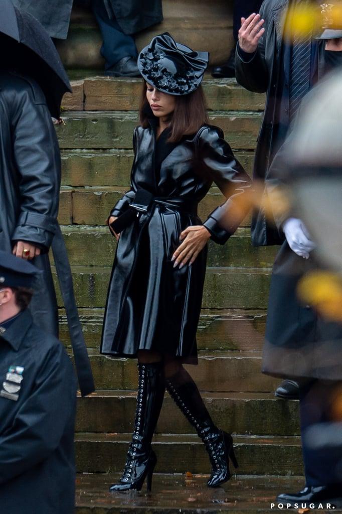 Zoë Kravitz's Wearing Leather Coat as Catwoman on The Batman
