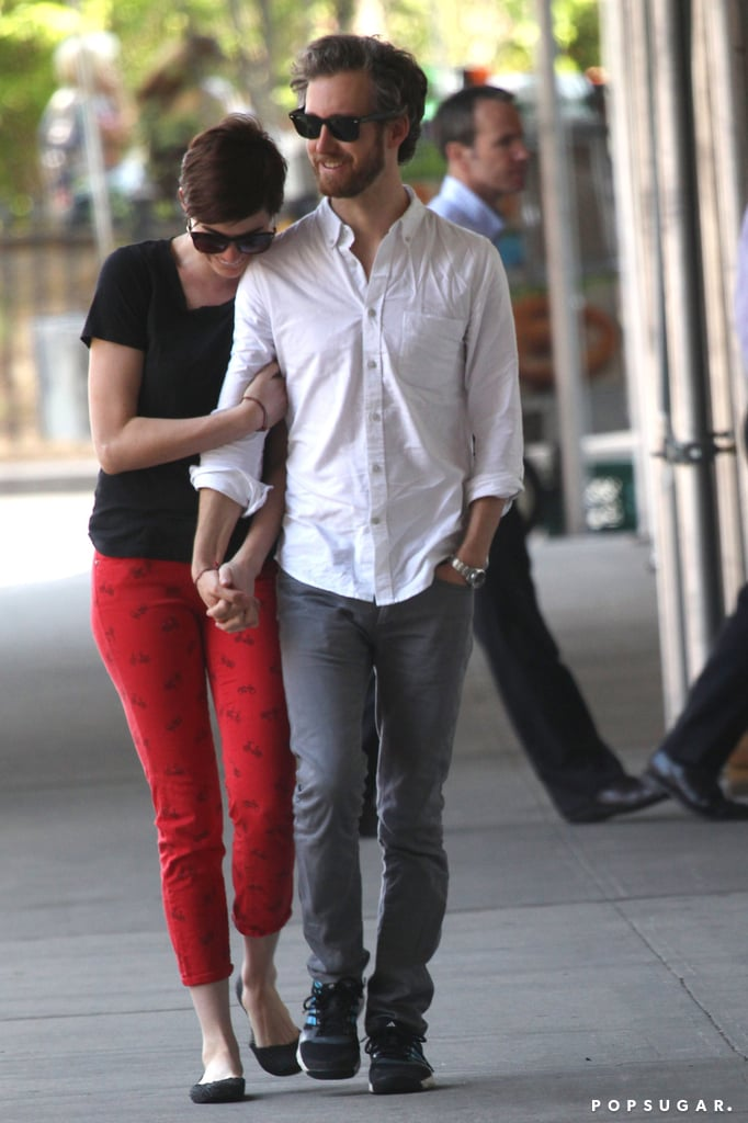 Anne and Adam Show a Little PDA in the Big Apple