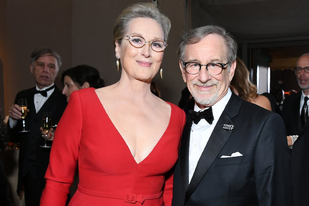 Pictured: Meryl Streep and Steven Spielberg