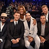 A.J. McLean, Nick Carter, Hoda Kotb, Kevin Richardson, Howie Dorough, and Brian Littrell