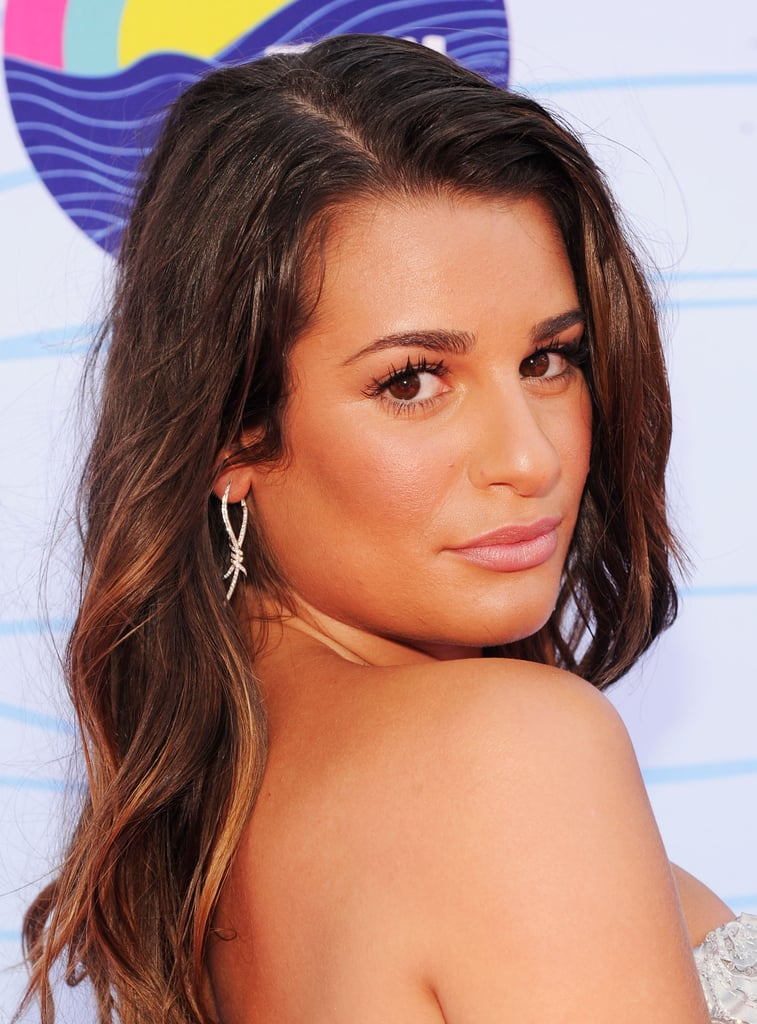Lea Michele arrived at the Teen Choice Awards.