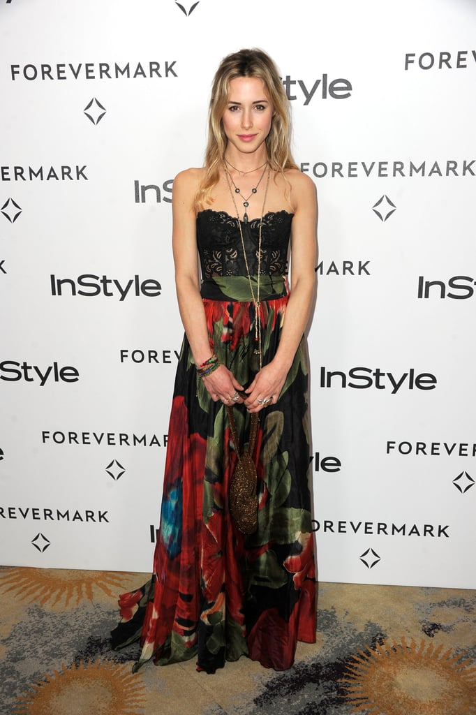 Gillian Zinser was in LA for an InStyle party.
