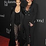 Kim Kardashian arrived with her mom, Kris Jenner.