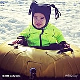 Brooks Stuber took is first tubing ride during a trip to Park City. Source: Instagram user mollybsims