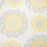 The Nicole Curtis Home removable wallpaper collection includes a medallion print.