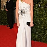 Charlize Theron in Versace at the Vanity Fair Oscars Party