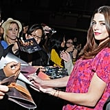 Ashley Greene signing autographs at a Breaking Dawn event in San Francisco.