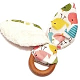 Natural Wooden Teething Ring Bunny ($13)