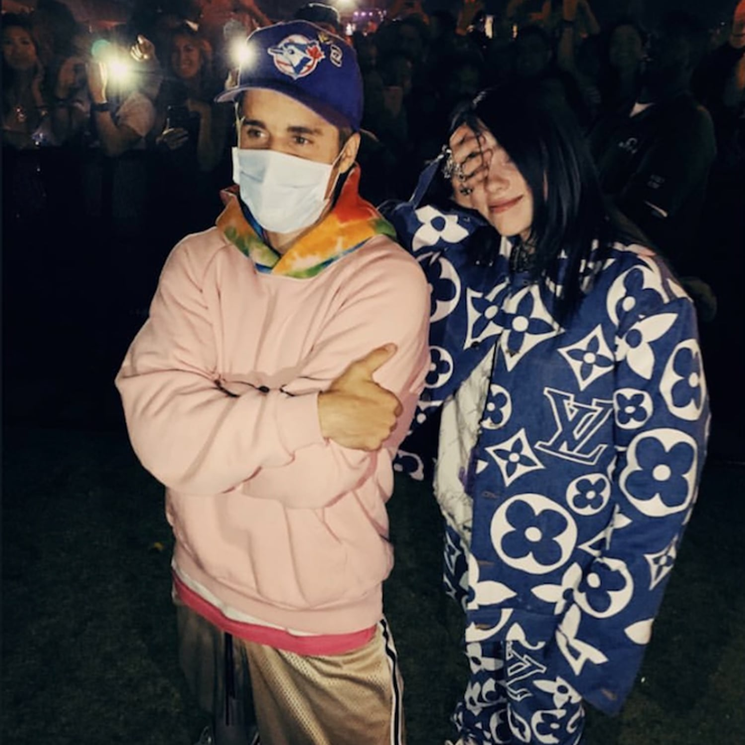 Billie Eilish Meeting Justin Bieber at Coachella 2019 Video