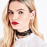 New Look Black Glitter Cut Out Choker