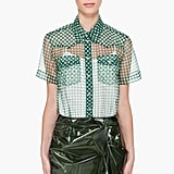 Sheer, gingham, and the perfect shade of kelly green? We were sold on this slick pointed-collar top at first sight. Marc Jacobs Ruby Blouse ($650)