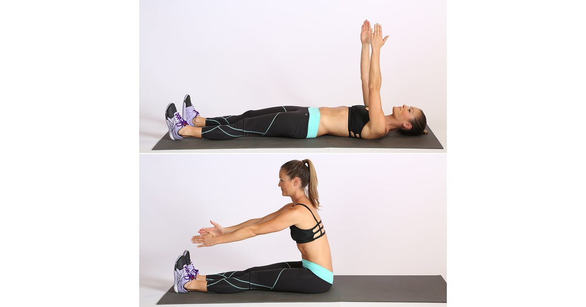 Straight Leg Sit Up Crunch Variations Popsugar Fitness