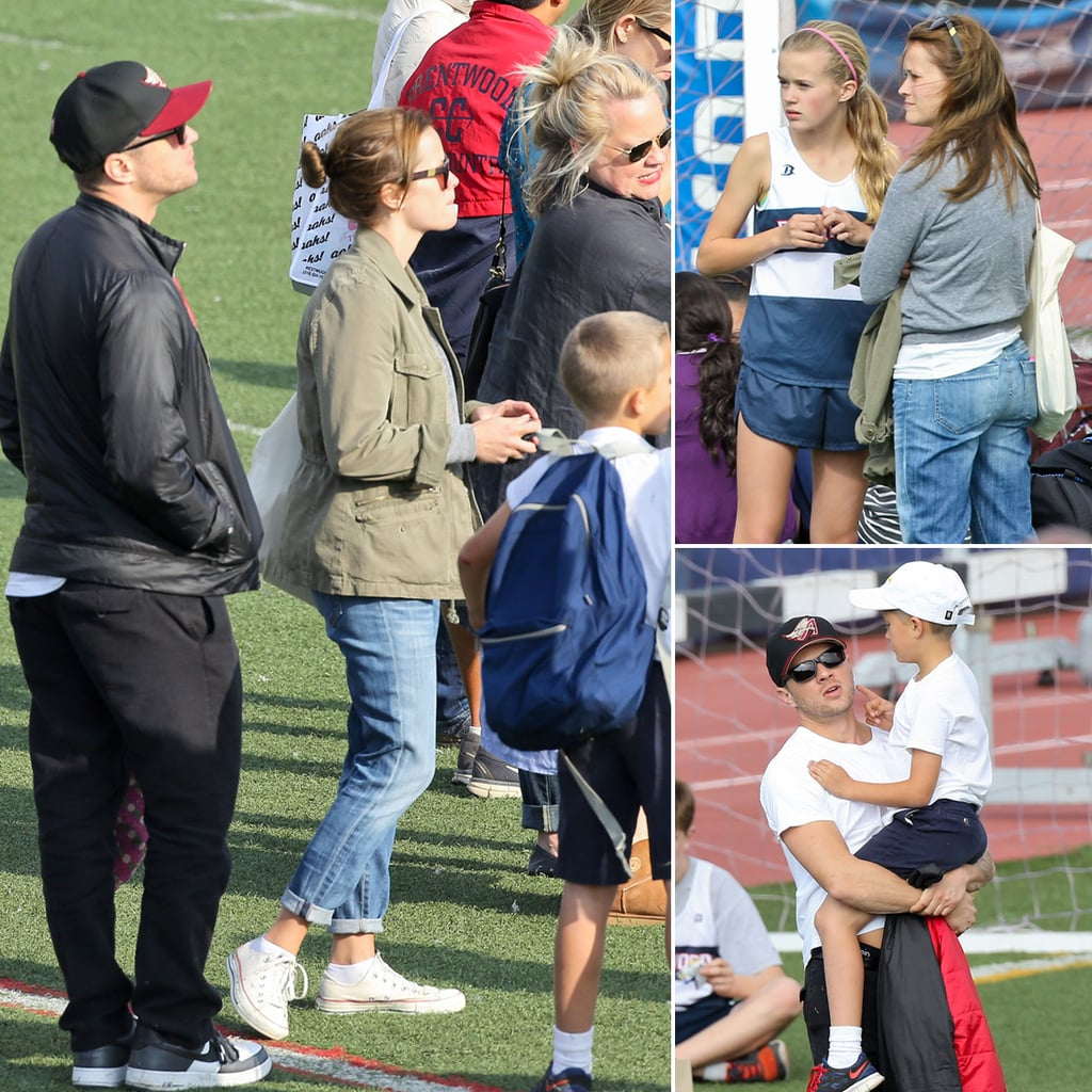 Reese Witherspoon and Ryan Phillippe at Ava's Track Meet