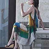 Milla Jovovich sipped on bubbly.