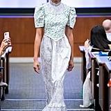 Puffy Sleeves on the Batsheva Runway at New York Fashion Week