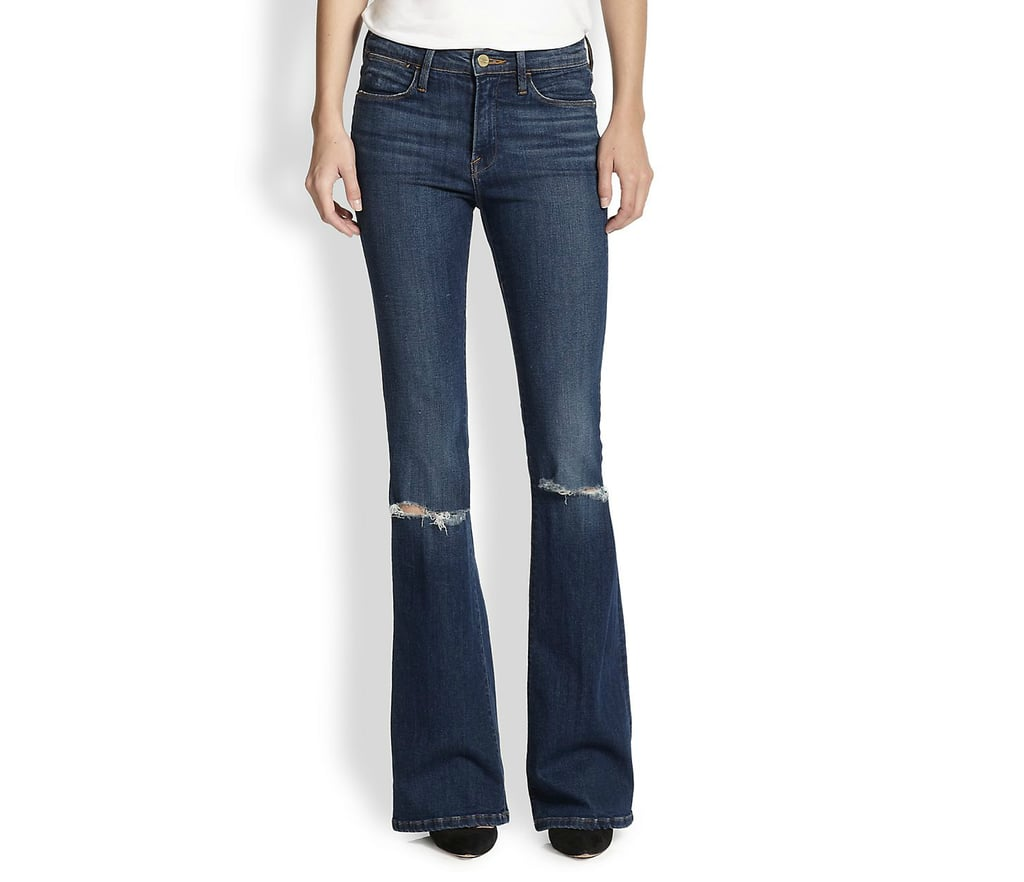 FRAME Le High-Rise Distressed Flared Jeans ($239)
