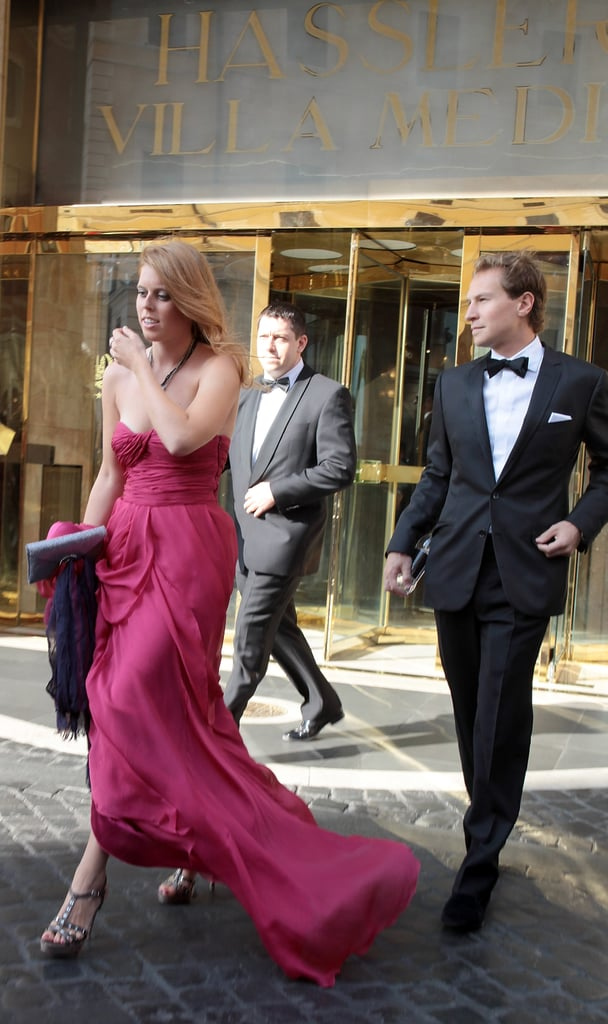 There's Nothing So Glamorous as Dashing From Your Hotel in a Floor-Length Gown