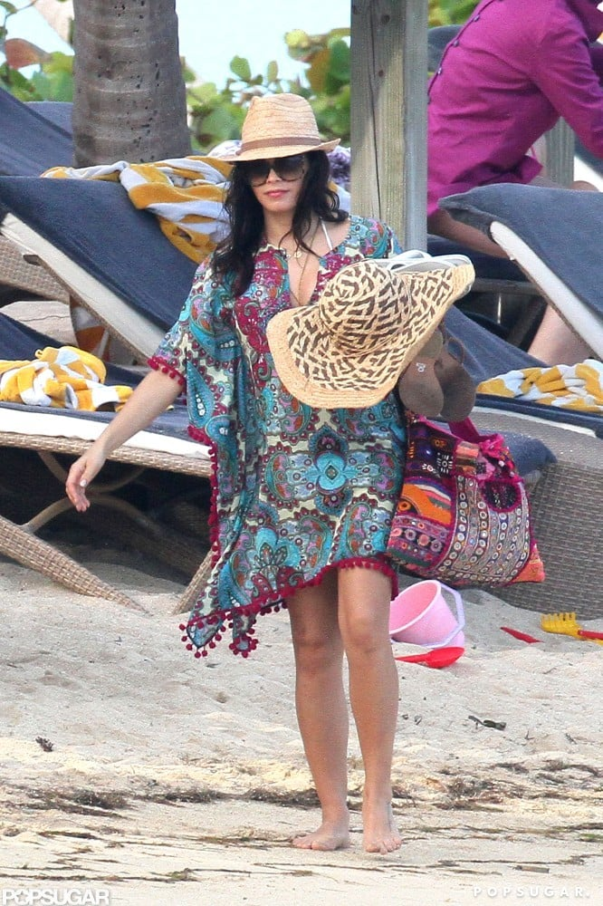 Jenna Dewan sported a cover-up.