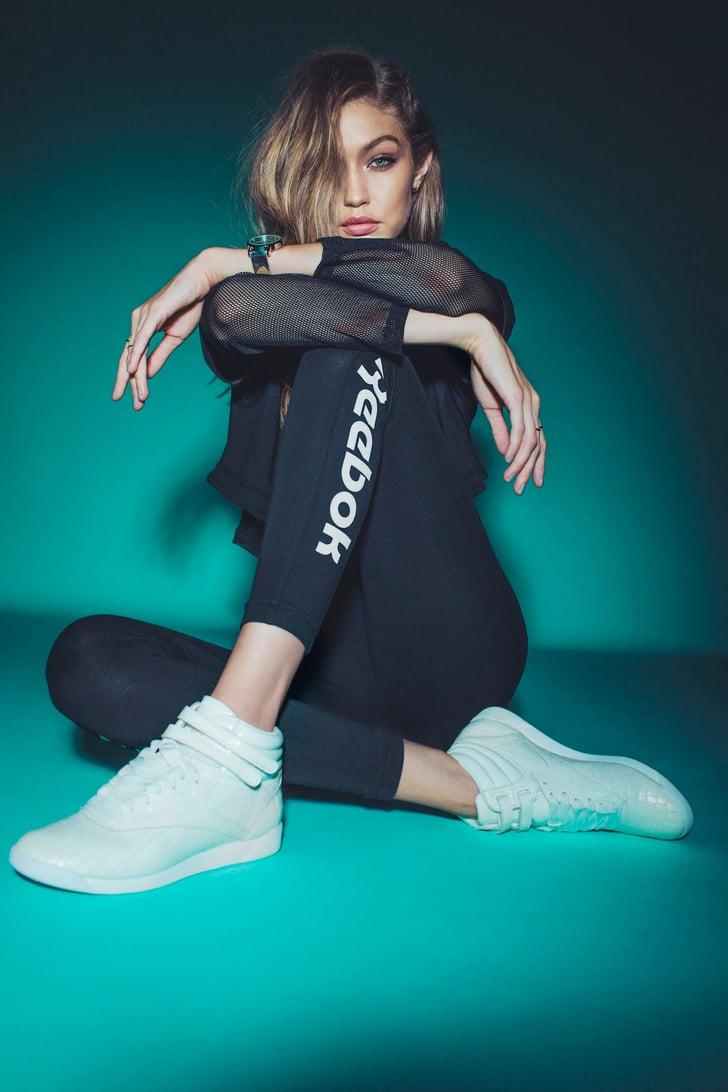 Gigi Hadid Reebok Freestyle Hi Sneakers