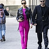 Irina Shayk's Street Style at Milan Fashion Week