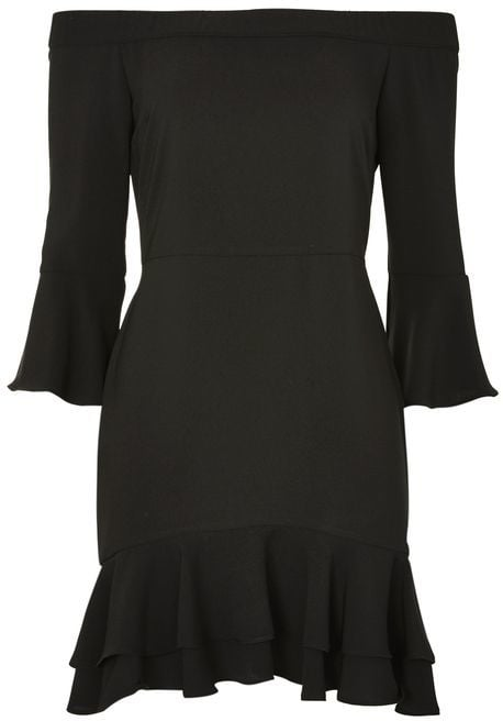 This frilled bardot dress ($68) can be worn with sneakers or heels, making it a versatile Summer LBD.