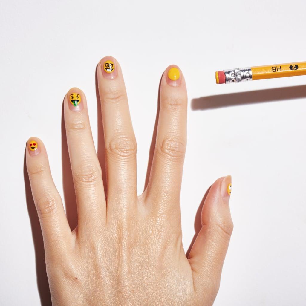 Emoji Nail Art How To | POPSUGAR Beauty