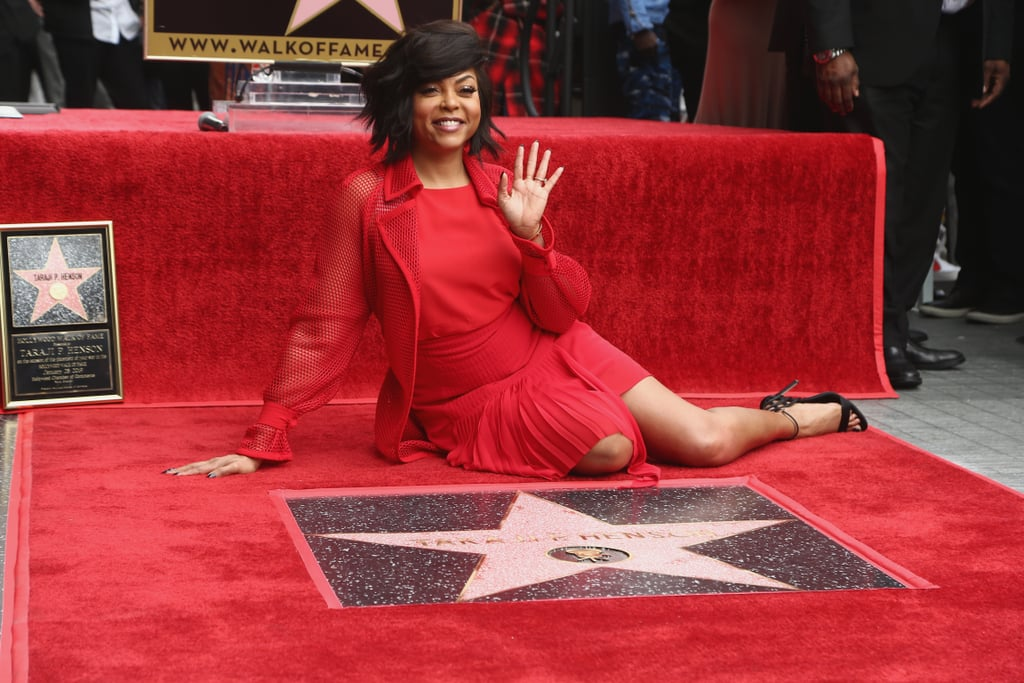 """Taraji P. Henson is clearly living her best life right now! On Monday, the What Men Want actress received her very own star on the Hollywood Walk of Fame, and she was surrounded by family and friends. In addition to snapping a few photos with her mother Bernice Gordon, grandmother Patsie Ballard, and 24-year-old son Marcell Johnson, Taraji shared a sweet moment with her soon-to-be husband, Kelvin Hayden. The two showed off their love as Taraji leaned in to give her fiancé a kiss.  Of course, Taraji's family weren't the only people there to support her on her big day. John Singleton and Mary J. Blige also made moving speeches honoring their friend. As Taraji took to the stage, she couldn't help but get a little emotional about the whole ceremony. """"I keep looking at that star, going, 'Is this real?' You know I've imagined it and here it is,"""" she said.  She also opened up about her journey to fame and ageism in Hollywood for actresses over the age of 40. """"I want to be around forever,"""" she said. """"I want to break through glass ceilings when they tell women over 40 that, 'Ah, you're done. We're sending you out to pasture. We're going to hire something young and sexy.' Then when I look up and see these men doing these kick-ass roles at 60, I'm like, 'Wait a minute, I still look good.'"""" See more of her big day ahead!       Related:                                                                                                           Taraji P. Henson and Kelvin Hayden Could Melt Ice With Their Sexy Romance"""