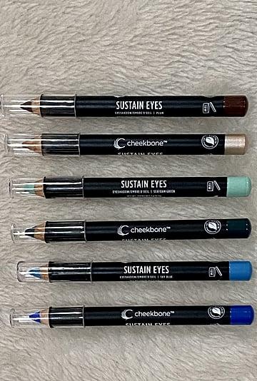 Cheekbone Beauty Sustain Eyeshadow Pencils Review