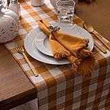 Checkered Pumpkin Spice Table Runner