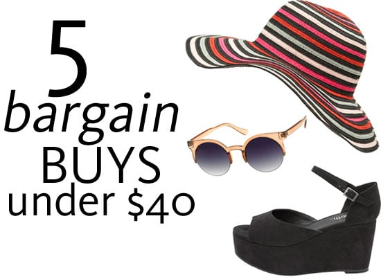 Top Five Bargain Fashion Buys Online Under $40: Summer Staples from Sportsgirl, Dotti, Witchery, Bardot and more!