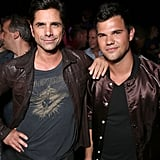Pictured: John Stamos and Taylor Lautner