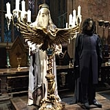 The first set you see in the tour is Hogwarts' magnificant Great Hall, a full-scale set that features real character costumes and some props like Dumbledore's owl podium.