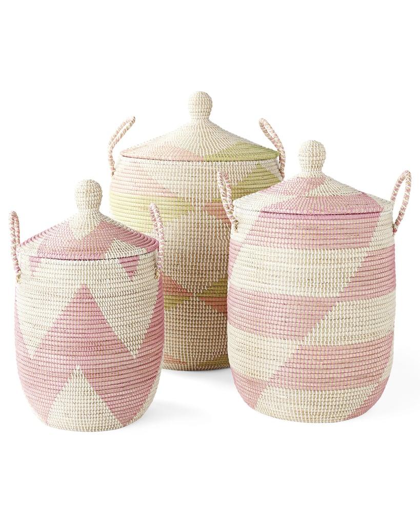 Striped La Jolla Baskets ($78-$168)