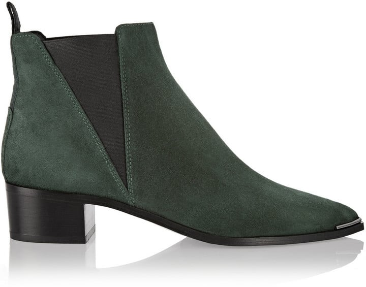 Acne Studios Hunter Green Suede Ankle Boots ($560)