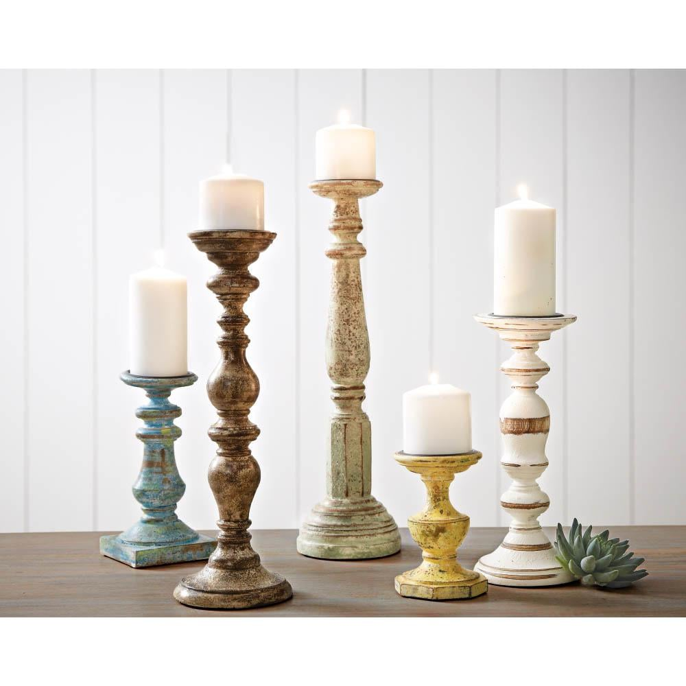 Trans Cain Distressed Wood Candle Holders ($129 per set of 5 ...