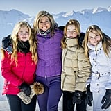Queen Máxima of the Netherlands With Princesses Catharina-Amalia, Alexia, and Ariane