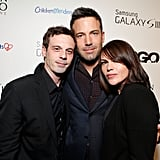 Ben Affleck pulled his Argo actors Clea Duvall and Scoot McNairy close for a photo at a charity screening of the film in LA in October.