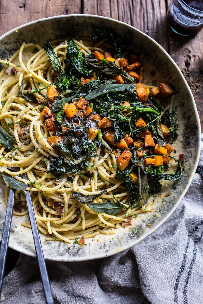 Butternut Squash Carbonara With Broccoli Rabe and Sage
